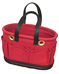Red Canvas Oval Tool Bucket