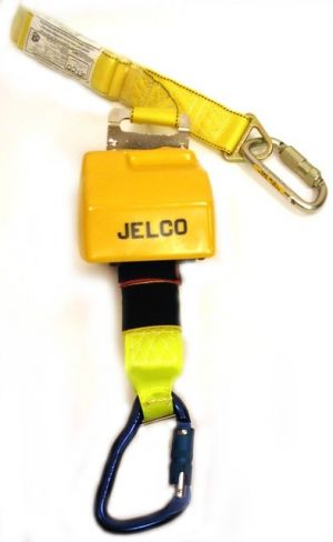 7' Retractable Lanyard on swivel plate with Shock Absorber